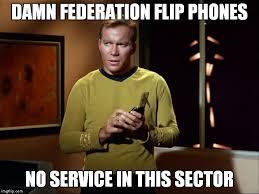 Kirk Meme - captain kirk with communicator imgflip