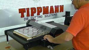 tippmann roller die cutting press die cutting demonsration with a