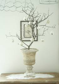 Twig Tree Home Decorating White Christmas Dining Room With Creative Decorations Home