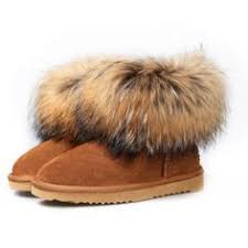 ugg boots sale womens amazon amazon com ausland s casual suede leather and fox fur