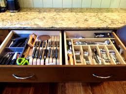 organizer wooden utensil drawer organizer kitchen cabinet
