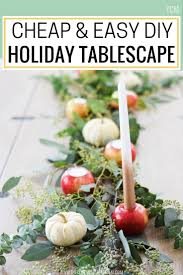 diy a cheap u0026 easy holiday tablescape the confused millennial