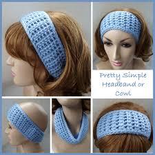 crochet headband simple headband or cowl free crochet pattern