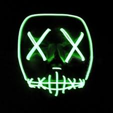 luoem led mask halloween cosplay frightening mask light up mask
