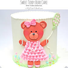 sweet teddy bear cake free video tutorial my cake