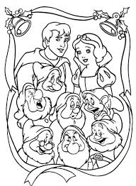 snowman brings christmas gift snow white coloring pages