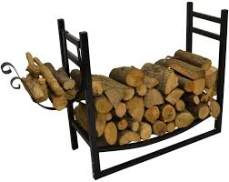 home design log racks fireplace holders and wood at ace