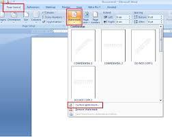 cara membuat tulisan watermark di excel membuat watermark atau tulisan background di ms word berbagi dalam