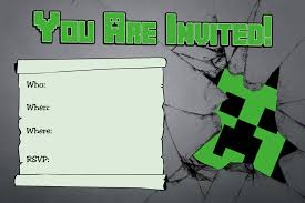 minecraft birthday party invitations blueklip com