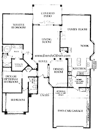 one story floor plans saddlebrooke floor plan estancia model small