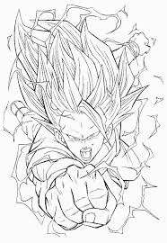 coloriage ã dessiner dragon ball z sangoku super sayen 4
