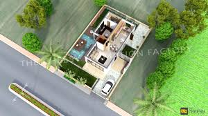 3d floor plans architecture3d for duplex houses 2 bedroom