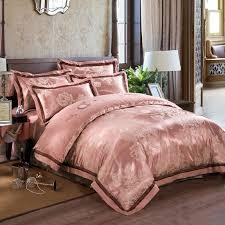 Antique Rose Comforter Set Silk Sheets King Light Pink Bedding Sets Silk Sheets Satin