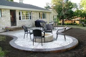 Pretty Backyard Ideas Patio U0026 Pergola Backyard Concrete Patio Ideas Satisfying Large