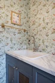 Wallpapered Bathrooms Ideas Best 10 Bird Wallpaper Ideas On Pinterest Chinoiserie Fabric