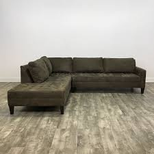 sectional sofas chicago microsuede left chaise sectional sofa by z gallerie chicago il