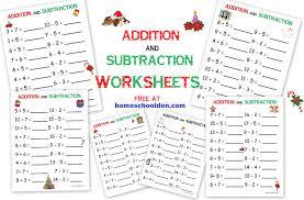 Geologic Time Scale Worksheet Addition U2013 Subtraction Free Christmas Math Worksheets Homeschool Den