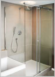 Bypass Shower Door Barn Door Style Glass Shower Doors Inviting Destin Glass Barn