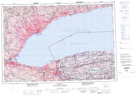 Toronto Canada Map by Printable Topographic Map Of Toronto 030m On