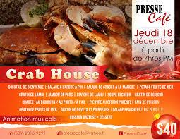 presse cuisine crab house presse café manman pemba