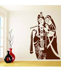 Wwe Wall Stickers Decor Villa Radha Krishna Wall Pvc Wall Stickers Buy Decor Villa