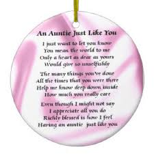 auntie poem tree decorations ornaments zazzle co uk