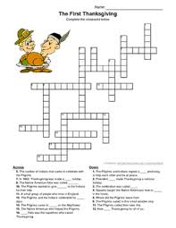 the thanksgiving crossword puzzle by sam silv tpt