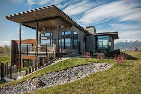 rustic contemporary homes rustic modern vacation home in wyoming hiconsumption