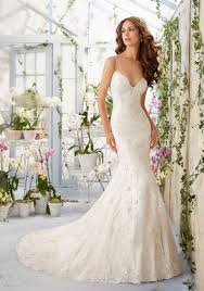 mori bridal lace contoured net with appliques and beading morilee