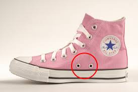 wondered what those holes in your converse trainers are for