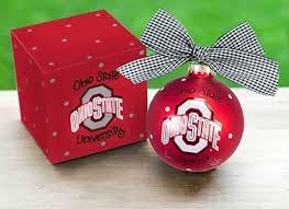ohio state ribbon ncaa collegiate ohio state osu buckeyes logo ornament