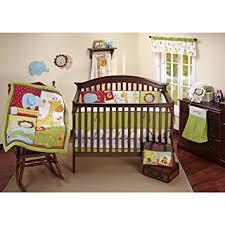 amazon com fisher price luv u zoo 4 piece crib set ivory crib