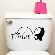 Penguin Home Decor by Little Penguin Toilet Seat Cover Sticker Showerroom Home Wall