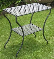 How To Paint Wrought Iron Patio Furniture by Diy Outdoor Console Table Fabulous Outdoor Console Table