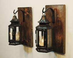 Lantern Wall Sconce Farmhouse Lantern Etsy