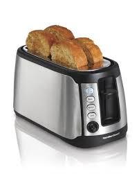 Walmart 4 Slice Toaster Hamilton Beach 4 Slice Long Slot Toaster With Keep Warm Walmart