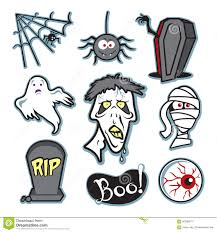 halloween creepy zombie and mummy illustration set collection