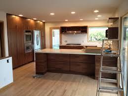 mid century modern walnut kitchen cabinets midcentury walnut kitchen ruphus