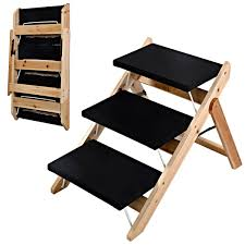 escaleras de perro para mascota rampa de madera portátil paso