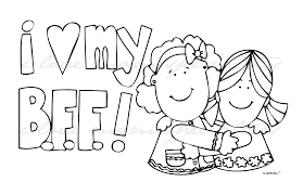 best friend coloring pages best friend coloring pages to download