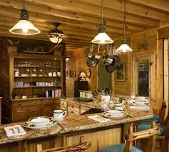 log cabin kitchens this log kitchen was designed by lands end