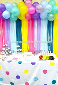 ruffled streamers birthday decoration ideas with crepe paper ruffled streamers fan