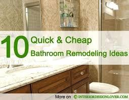 bathroom renovation ideas for budget cheap bathroom remodel simpletask