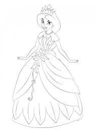 Coloriage Jasmine sest habillé en une belle robe