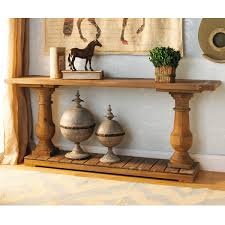 wood turned baluster console table and check out those