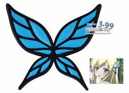 butterfly hair clip kashiwazaki blue butterfly hairclip boku wa tomodachi ga