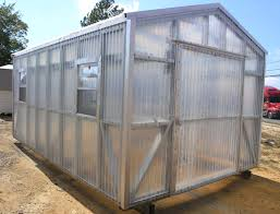 Clear Corrugated Plastic Roof Panel Greenhouse by Greenhouses Portable Storage Buildings Robin Builders