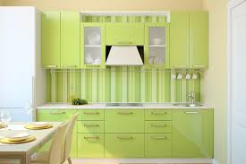 modern green kitchen green color kitchen cabinets grey mosaic granite countertop mosaic