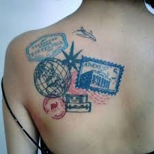 picture of cool travel tattoo idea