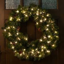 holiday time pre lit 18 christmas garland multi lights shop christmas wreaths garland at lowes com